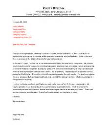Exles Of Resume Cover Letters For Customer Service by Customer Service Cover Letter Exle
