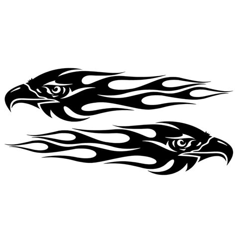Sticker Harley Logo 14 Cm 20 4 7cm pair eagle flames car sticker personalized motorcycle waterproof stickers car styling
