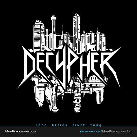decypher deaththrash metal band logo design
