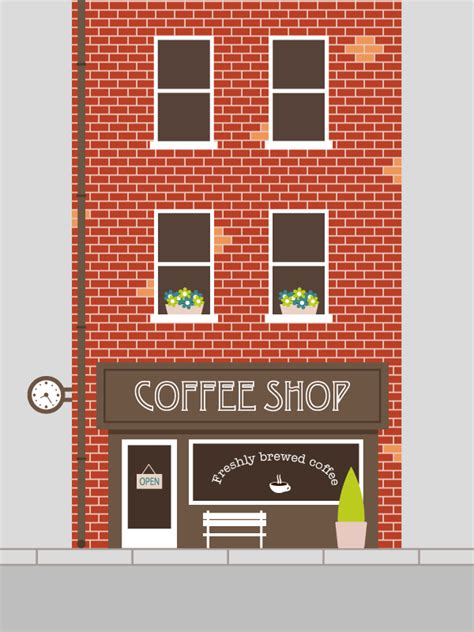 vector building tutorial how to create an easy coffee shop facade in adobe illustrator
