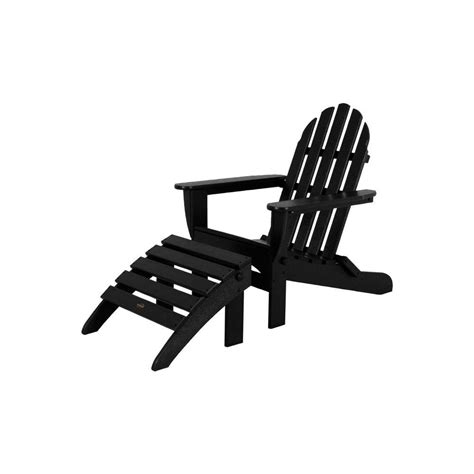 black adirondack chairs home depot lakeland mills tete a tete patio chairs and table cfu129