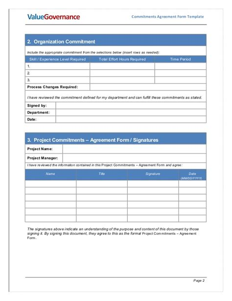 pm002 05 commitments agreement form template