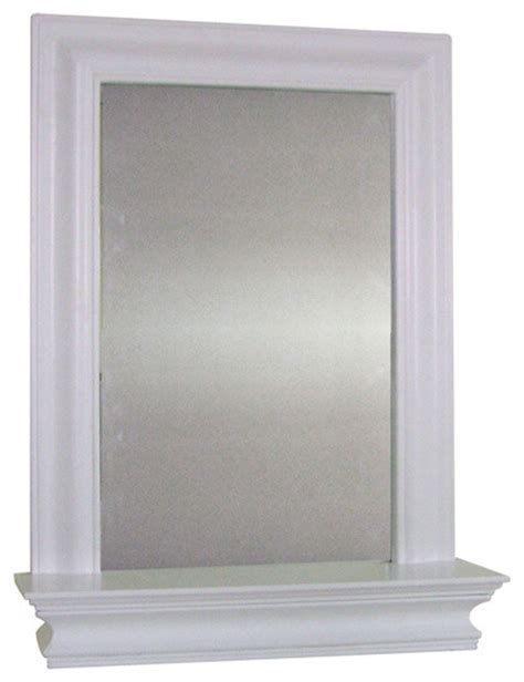 Kingston Wall Mirror With Shelf Contemporary Bathroom Mirror Shelves Bathroom