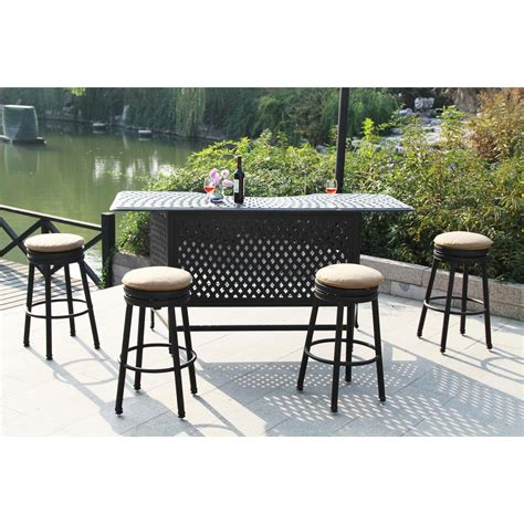 Patio Stools Darlee Cast Aluminum Patio Backless Counter Height