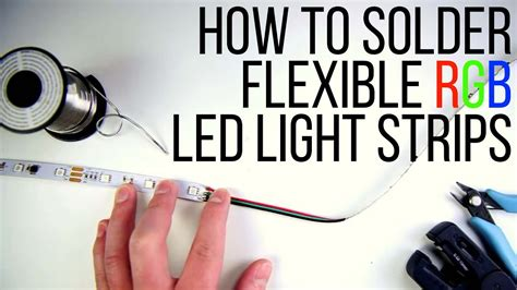 how to solder rgb led light strips