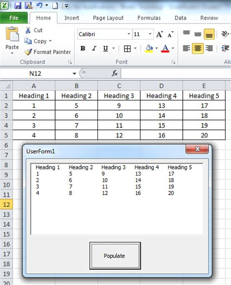 how to add a userform to aid data entry in excel excel vba object required listbox wel e to