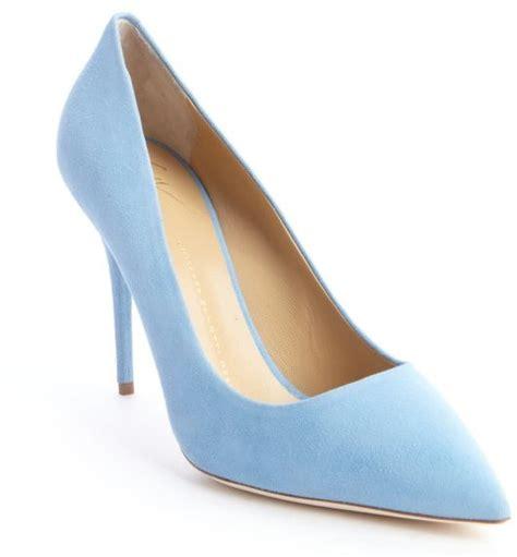 Light Blue Suede Heels by Light Blue Suede Pumps Giuseppe Zanotti Sky Blue Suede