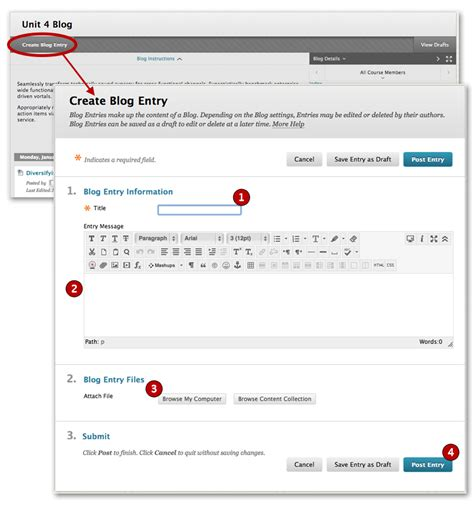 build blog blogs blackboard student support