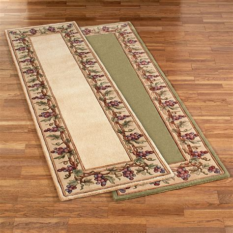 grape rugs kitchen grapes napa border rug runner