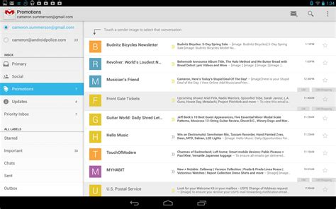android gmail new gmail for android v4 5 with slide out navigation and brand new inbox