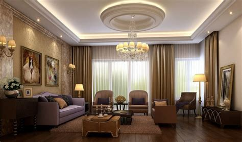 wonderful interior living room with lighted false ceiling