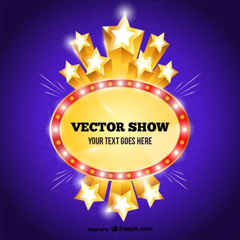 free show templates show sign template vector free