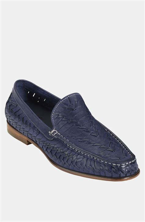 cole haan blue loafers cole haan air tremont loafer in blue for peacoat blue