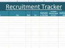 Management Templates Microsoft Excel Templates Recruitment Tracker Excel Template