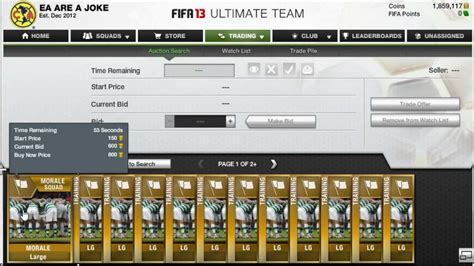 ut coin bets tutorial how to trade squad morale method fifa 13 ultimate team