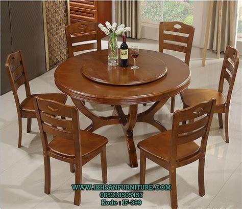 Meja Makan Jati 4 6 Kursi harga meja makan bundar 6 kursi kayu jati set meja makan