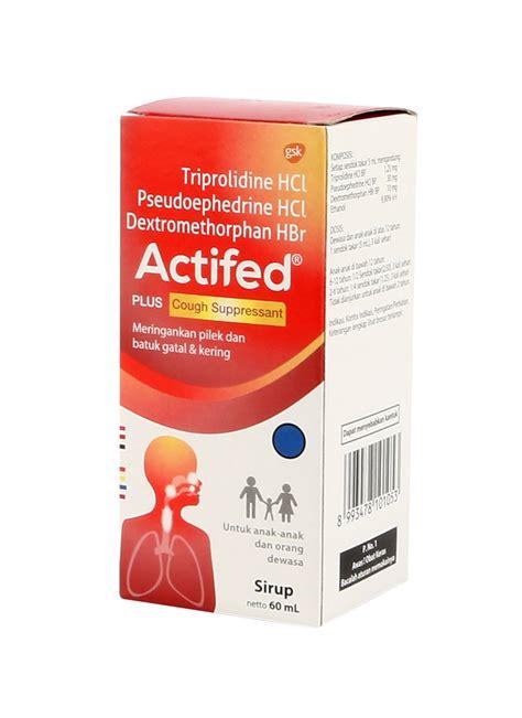 Obat Actifed actifed syrup pilek batuk gatal kering btl 60ml
