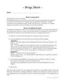 Brag Sheet Template For Letter Of Recommendation Parent Brag Sheet Writable Pdf