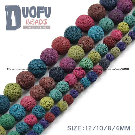 best quality lava l colourful lava bead srainbow natural stone volcanic rock