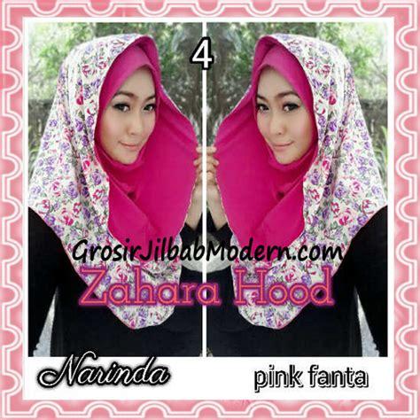 jilbab instant hoodie zahara bunga cantik by narinda no 4 pink fanta grosir jilbab modern