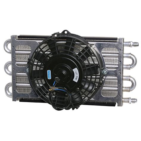 fluid cooler with fan 6 pass oil cooler coil 8 quot electric fan assembly maxi