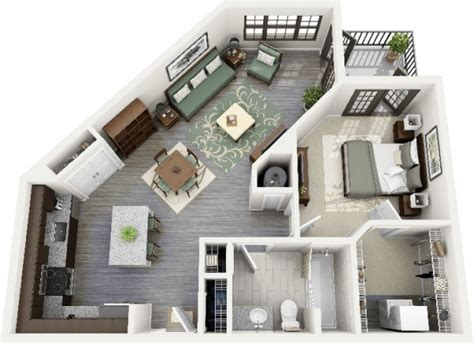 1 bedroom apartments 600 uniquely shaped 1 bedroom apartment 600x435 jpg