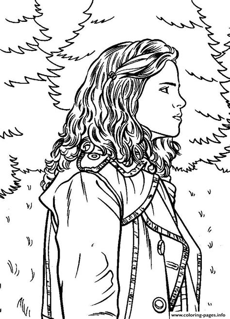 harry potter coloring book for adults pdf harry potters hermione coloring pages printable