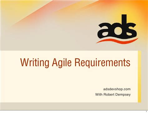 agile software requirements template writing agile requirements