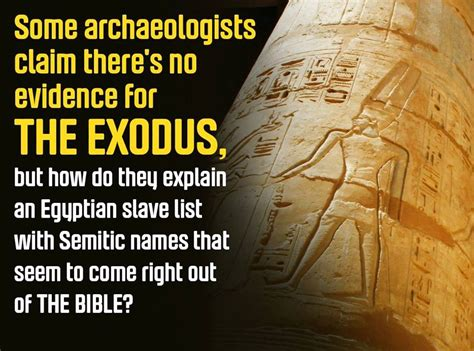 pattern and evidence of exodus 1 patterns of evidence exodus did it happen bible