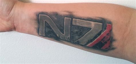 n7 tattoo my mass effect n7 ideas mass