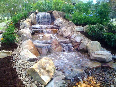 waterfalls fountains koi ponds lombardo landscaping