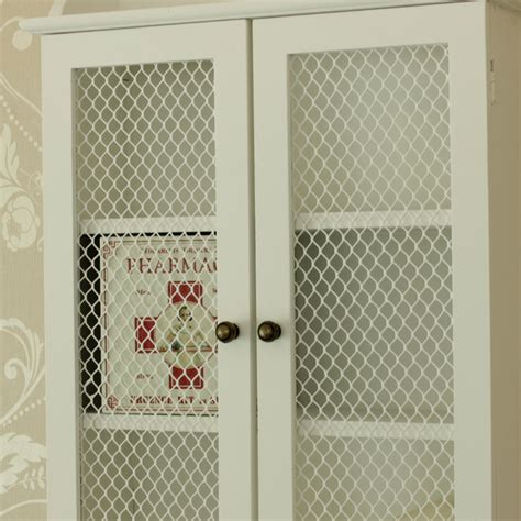 small white wall cabinet small white mesh fronted wall cabinet melody maison 174