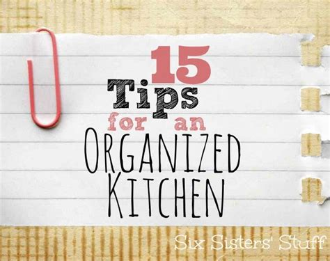 115 kitchen cleaning tips 15 tips for an organized kitchen cleaning pinterest
