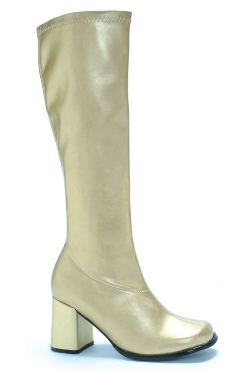gold go go boots costume craze