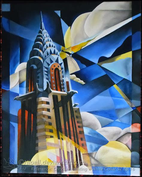 building painting chrysler painting white collar by nioell on deviantart