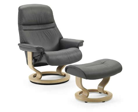 Stressless By Ekornes Stressless Recliners 1237015 Medium Reclining Chair And Ottoman