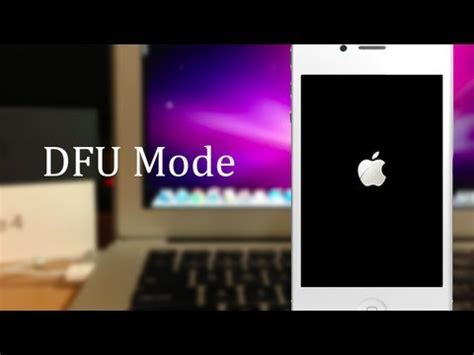 how to put your iphone in dfu mode iphone hacks