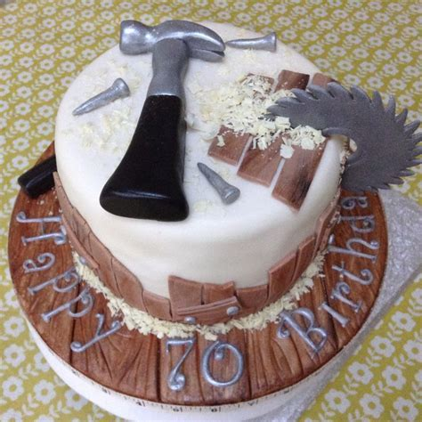 Carpenter woodwork birthday cake   Recipes   Birthday Cake