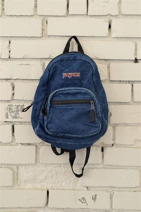 Denim Backpack vintage mini denim jansport backpack