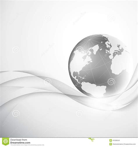 grey earth wallpaper abstract gray background with globe stock vector image