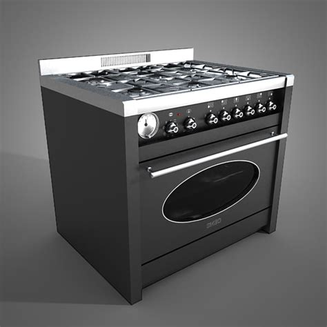 Kitchen Oven kitchen oven 3d obj