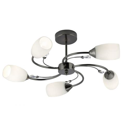 searchlight electra contemporary 5 light semi flush