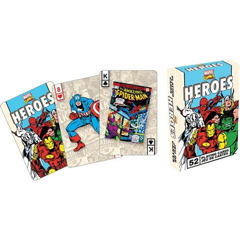 Marvel Heroes Gift Card - marvel heroes retro playing cards