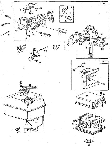 10 hp briggs and stratton carburetor diagram 10 hp briggs carb schematics briggs and stratton