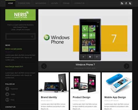 drupal themes with slider free download drupal free responsive themes modern free responsive