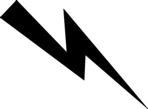 Lightning Bolt Black And White Black Lightning Bolt Clip At Clker Vector Clip