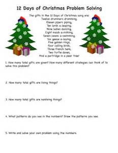 Search results for twelve days of christmas math problem worksheet