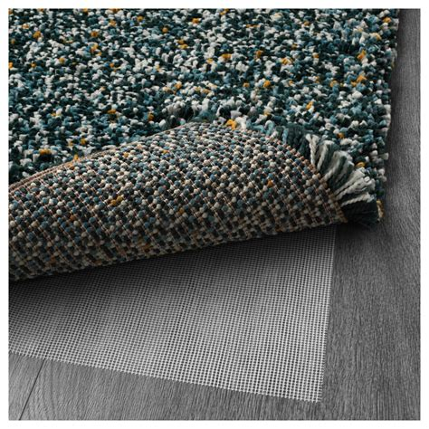 vindum rug high pile blue green 133x180 cm ikea