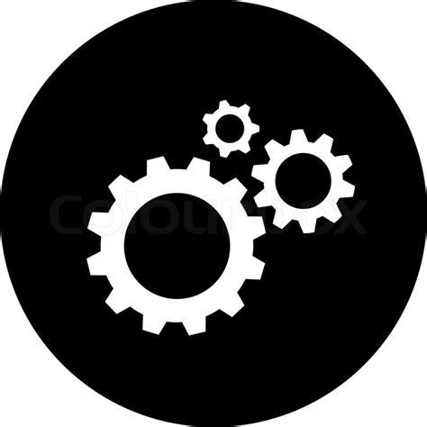 vector symbol von zahnraedern alle schichten sind gruppiert