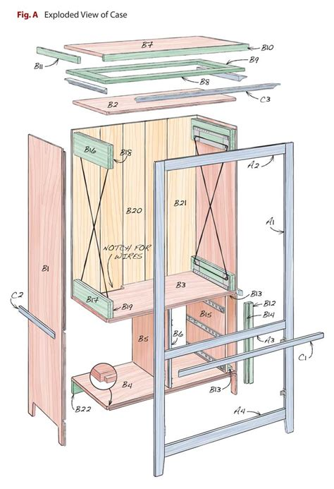 Armoire à Plan by Computer Armoire Popular Woodworking Magazine